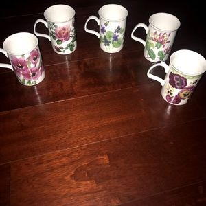 Roy Kirkham set of 5 mugs
